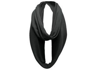 Black Lightweight Circle Ring Infinity Scarf
