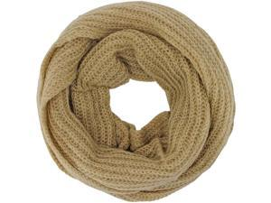 Camel Mohair Feel Circle Infinity Scarf