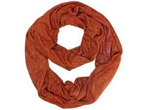 Orange Two-Tone Distressed Circle Scarf