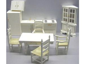 Dollhouse 10 PC CREME KITCHEN SET
