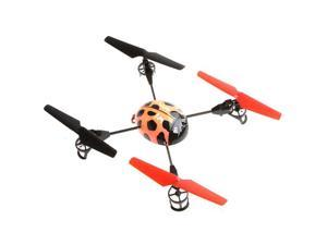 Beetle 4 Channel RC 2.4Ghz 4-axis Aircraft UFO 3D Tumbling with LCD Display Orange