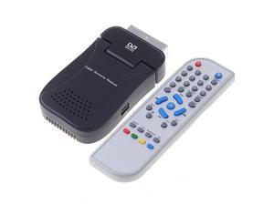 DVB-T SCART Mini TV Box Freeview Receiver Tuner Recorder