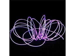 3M Purple Flexible Neon Light EL Wire Rope Tube with Controller
