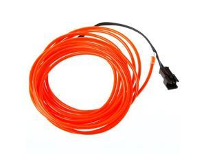 3M Red Flexible Neon Light EL Wire Rope Tube with Controller
