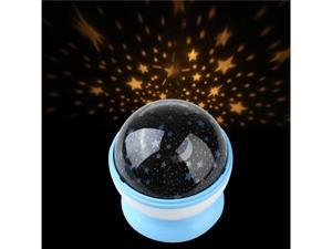 Room Night Light Lamp Rotary Flashing Starry Star Moon Sky Cosmos Projector Blue