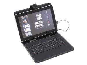 This black leather case with laptop-style keyboard is the perfect accessory for 9.7""