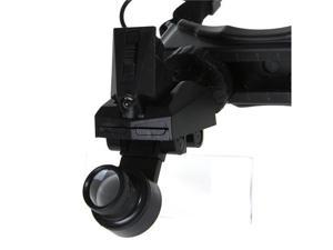 8 Lens Headband Head Strap Magnifier Watch Repair Jeweler Loupe with LED Light