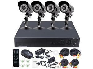 4CH H.264 DVR System Home Video Surveillance 2TB & 20m IR Security CCTV Camera Indoor Outdoor