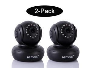 2 Pack of Wanscam Wireless WiFi IP/Network Camera 13 IR LED Night Vision Dual Audio Webcam P2P