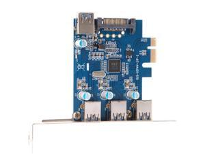 SuperSpeed USB 3.0 PCI-E PCI Express 4-Port with 15-pin SATA Power Connector