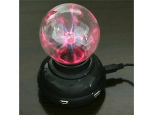 USB 4 ports HUB Plasma Ball Sphere Light Lamp Desktop Light Show