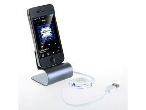 Aluminum USB Dock Cradle Station Stand Charger with Cable for iPhone 4/4S