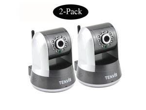 2-Pack Tenvis IProbot3 Wireless Indoor IR WIFI IP Network Camera CCTV Nightvision White