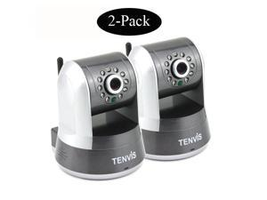 2 Pack TENVIS IPROBOT3 P2P Wireless IP Camera Webcam Network Surveillance 720P HD H.264 IR-Cut Night Vision PTZ Motion Detection ...