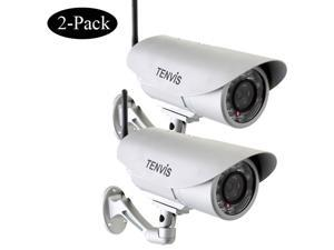 2 Pack TENVIS IP391W Wireless IP Camera Webcam Network Security IR-Cut Outdoor Waterproof Night Vision Motion Detection Wifi ...