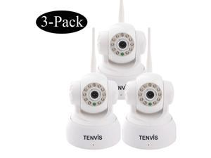 3 Pack TENVIS JPT3815W+ Wireless Network IP Camera Webcam Home Security Pan/Tilt Night Vision IR-CUT Motion Detection Wifi ...