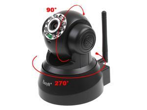 EasyN Wireless WIFI IP Camera IR LED 2-Audio Nightvision (Black)