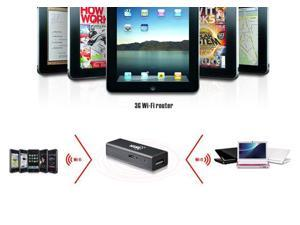 2 in 1 HAME A15 World's Smallest Wireless Router 3G/Wi-Fi 150Mbps 3G Hotspot USB Black