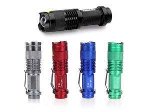 7W 300LM Mini CREE Adjustable Focus Zoom LED Flashlight Torch Lamp
