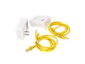 2 * 200Mbps Network Extender Homeplug AV Powerline Adapter Kit US Plug