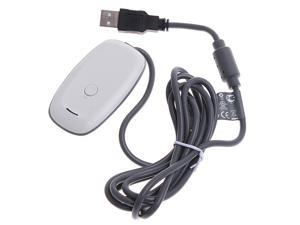 Black Wireless Gaming Receiver for Microsoft XBOX 360 PC