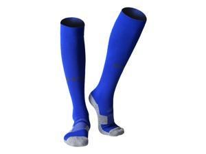 1 Pair of Non-slip Footbed Football Socks Adult Knee High Socks Long Loom Socks Breathable Football Socks Outdoor Sports Socks Compression Socks