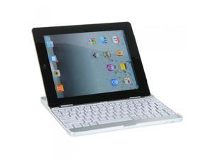 Aluminum Bluetooth Wireless Keyboard Dock Case Stand for Apple The New ipad 2/3 White