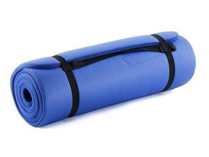 "ProSource premium 1/2"" extra thick 71"" long high density exercise yoga mat with comfort foam and carrying case"