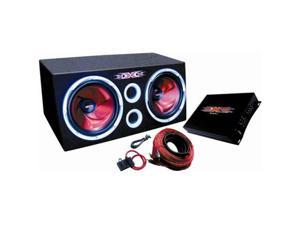 Dual 12 1200w Subwoofer Package With Amplifier Amp Kit Sub Box Woofers
