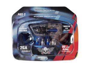 Power Acoustik Akit2 2 Gauge Car Audio Complete Amplifier Amp Wiring Kit