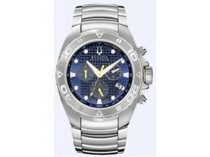 Bulova 63B144 Accutron Curacao Chronograph Blue Dial Stainless Steel Watch
