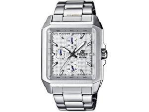 Casio EF333D-7A Men Watch Stainless Steel Edifice Patterned White Dial