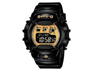 Casio BG1006SA-1CC Womens Baby-G Shock Resistant Black/Gold Multi-Function Watch