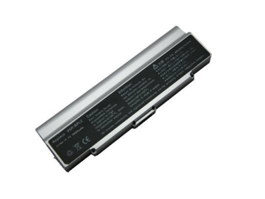 Compatible for Sony VAIO VGN AR25GP 9 Cell Silver Battery