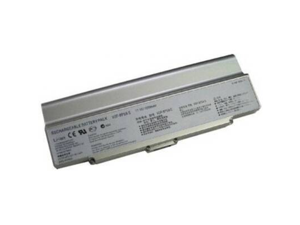 Compatible for Sony VAIO VGN FE680G 12 Cell Silver Battery