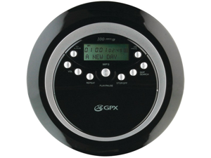 GPX PC800B Personal CD Player with MP3 Playback and Anti-Skip Protection (Black)