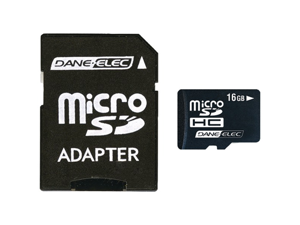 Dane-Elec Da-2In1-16G-R 16Gb Micro Sd Card