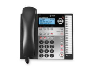 AT T 1080 Standard Phone   White   Corded   4 x Phone Line   Caller ID