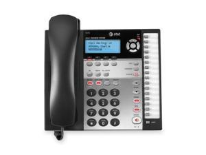 AT T 1070 Standard Phone   Black, White   Corded   4 x Phone Line   Caller ID