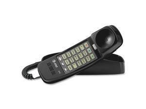 AT T 210 BK Trimline 210 BK Standard Phone   Black   Corded   1 x Phone Line   Yes