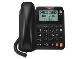 AT T CL2940 CL2940 Standard Phone   Black   Corded   1 x Phone Line   Speakerphone   Caller ID   Yes