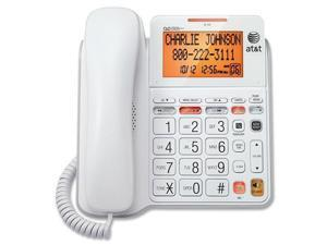 AT T CL4940 CL4940 Standard Phone   White   Corded   1 x Phone Line   Speakerphone   Answering Machine   Caller ID