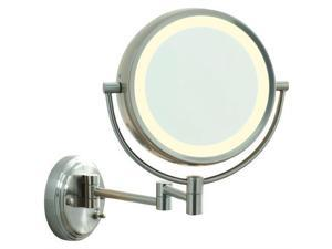 CONAIR BE6WMX Fluorescent Satin Nickel Wall Mount Mirror