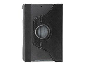 KIQ Black 360 Rotating Folio PU Leather Stand Case Cover for Apple Ipad Mini