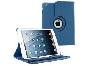 KIQ (TM) Dark Blue Design 360 Rotating Leather Case Pouch Cover Skin Stand for Apple iPad 2/3/4
