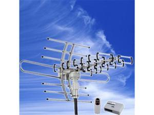 Esky 150 Miles HDTV 1080p Outdoor Digital Amplified Antenna - 360 Rotation UHF/VHF/FM