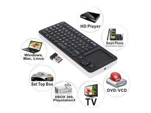 RII 2.4GHz Mini Wireless Full Qwerty Keyboard + TouchPad + IR Learning Remote Control 3 in 1