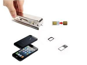 Micro SIM Card to Nano Sim Card Cutter + SIM Adapter for New iPhone 5 5G