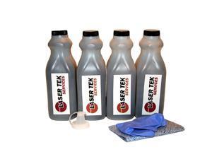Laser Tek Services ® 4 Pack Black Toner Refill Kit for the HP LaserJet 4, 4 Plus, 4m, 5, 5m, 92298A, 98A