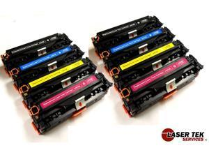 Laser Tek Services ® 8 Pack Toner Cartridges for the HP CE410A, CE411A, CE412A, CE413A, 305A (2BK, 2C, 2M, 2Y)